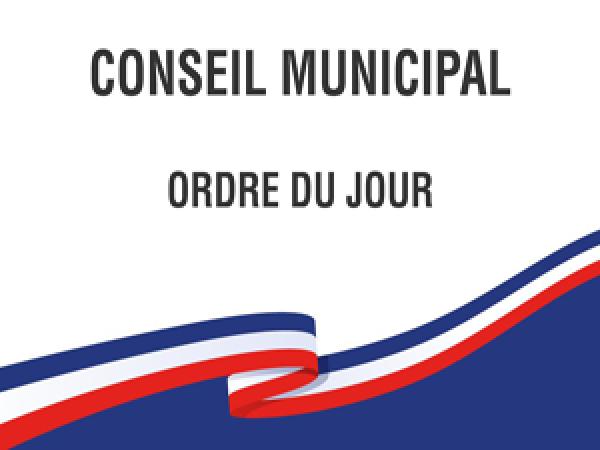 ORDRE DU JOUR DU CONSEIL MUNICIPAL DU 17 DECEMBRE 2020
