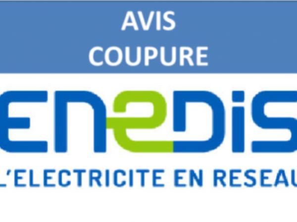 COUPURES DE COURANT POUR TRAVAUX LE VENDREDI 15 OCTOBRE DE 9H à 15H