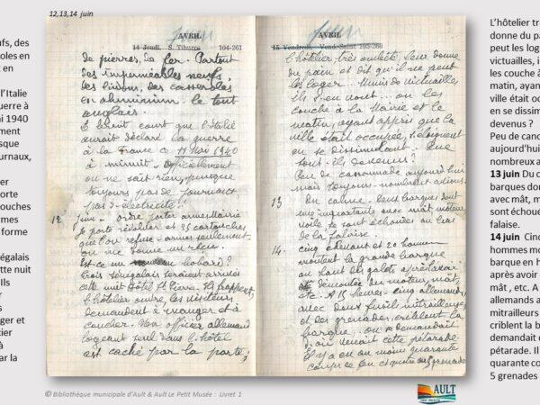 Carnet Daurelly – du 12 juin 1940 au 14 juin 1940