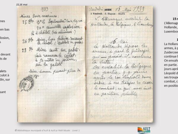Carnet Daurelly – du 25 avril 1940 au 25 mai 1940
