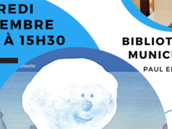 BIBLIOTHÈQUE : TAPIS LECTURE «LE GRAND VOYAGE D'UN PETIT NUAGE»